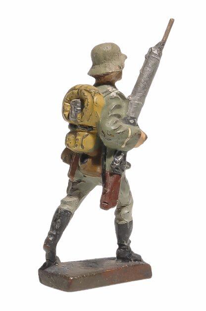 Lineol Soldat marschierend mit MG2