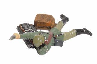 Lineol:Duscha Soldat mit Granate liegend1