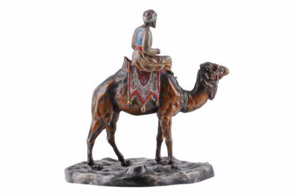 Metall Figur Orientale, Araber mit Kamel ca 19202