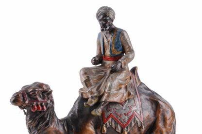 Metall Figur Orientale, Araber mit Kamel ca 19203