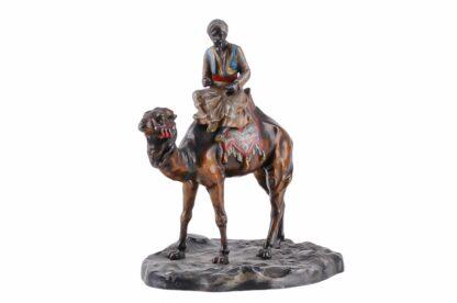 Metall Figur Orientale, Araber mit Kamel ca 19204