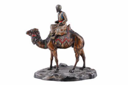 Metall Figur Orientale, Araber mit Kamel ca 19205