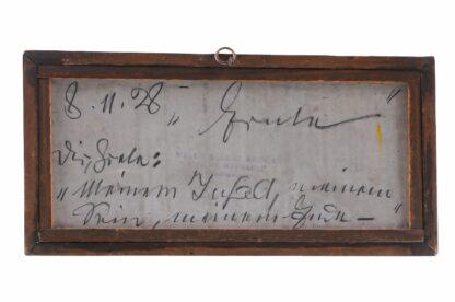 Miniatur Ölgemälde Getreideernte signiert Meindl 19281