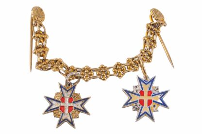 Miniatur Ordenskette Österreich silbernes und goldenes Ehrenzeichen der Ärztekammer Österreichs1