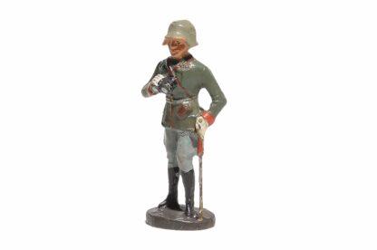 Stehender Offizier mit Fernglas Elastolin Soldat1
