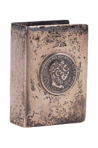 Zündholzspender mit Motiv Kaiser Franz Josef in Silber4