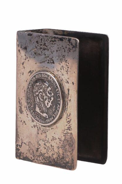 Zündholzspender mit Motiv Kaiser Franz Josef in Silber5