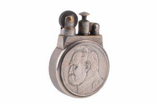 Altes, polnisches Sturmfeuerzeug ca. 1935 mit Münzen6