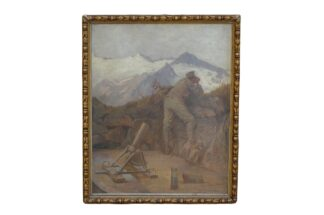 Karl Maria Schuster Gemälde WW1 Isonzo Gebirgsjäger4