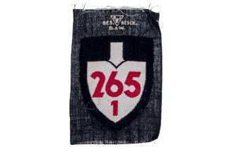 Reichsarbeitsdienst (RAD) Abteilungszeichen 265 1 2