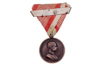 Tapferkeitsmedaille Kaiser Franz Josef in Broze mit Wiederholungsspange2